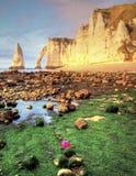 Etretat. Sea cliffs landscape Etretat Normandy France Royalty Free Stock Images