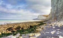 Etretat. Sea cliffs landscape Etretat Normandy France Royalty Free Stock Image