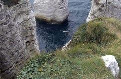 Etretat. Sea cliffs landscape Etretat Normandy France Royalty Free Stock Photography