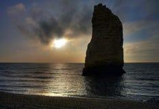 Etretat. Sea cliffs landscape Etretat Normandy France Stock Photography