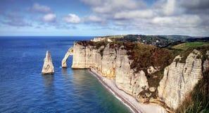 Etretat. Sea cliffs landscape Etretat Normandy France Stock Images