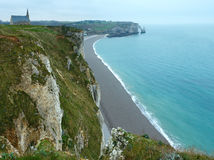 Etretat spring coast, France. Stock Image