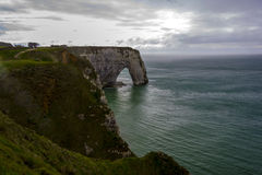 Etretat on the Upper Normandy coast in the North of France Royalty Free Stock Photos