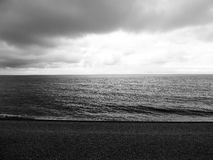Etretat& x27; mare di s in Normandie Fotografia Stock