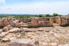 Etri ruins near Beit Shemesh Royalty Free Stock Images