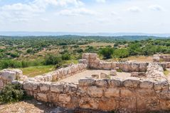 Etri ruins near Beit Shemesh Stock Photography