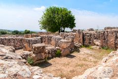 Etri ruins near Beit Shemesh Stock Photos