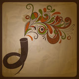 Etro concept composition with horn Royalty Free Stock Images