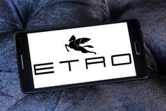 Etro fashion brand logo. Logo of Etro fashion brand on samsung mobile. Etro is an Italian fashion house royalty free stock image