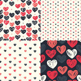 Etro seamless pattern with colorful hearts Stock Image