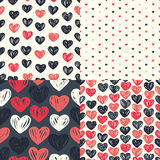 Etro seamless pattern with colorful hearts Royalty Free Stock Photo
