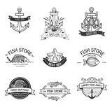 Etro Vintage Insignias or Logotypes set with with Royalty Free Stock Image
