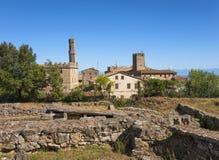 Etrurian fördärvar platsen i Volterra, Italien royaltyfri foto