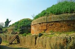 Etruscan坟茔,切尔韦泰里,意大利 免版税库存图片