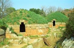 Etruscan坟茔,切尔韦泰里,意大利 图库摄影
