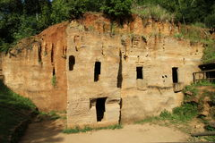 etruscan坟茔 库存照片