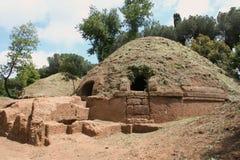 etruscan大墓地坟茔 免版税库存图片