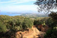 Etruscan некрополь в древесинах приближает к Populonia, Италии Стоковые Изображения RF