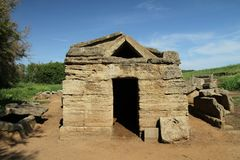 etruscan усыпальница Стоковые Изображения