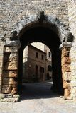 Etruscan arch. Detail from Etruscan arch - Volterra - Tuscany - Italy Royalty Free Stock Image