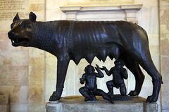 Etruscan bronze statue Capitoline Wolf Royalty Free Stock Photo