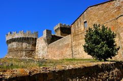 Etruscan castle in Italy Stock Photo