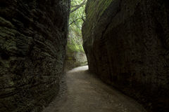 Etruscan cave road Stock Photography