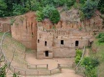 Etruscan Gräber Stockfotos