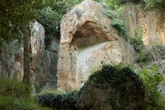 etruscan graven royalty-vrije stock afbeeldingen