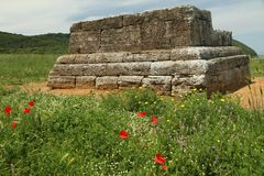 etruscan grobowiec zdjęcie royalty free