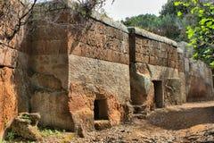 Etruscan necropolis of Cerveteri Royalty Free Stock Photo