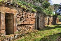 Etruscan necropolis of Cerveteri Royalty Free Stock Photos
