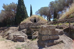 The Etruscan necropolis of Cerveteri Royalty Free Stock Photography