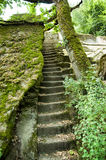 Etruscan pyramid stairs Royalty Free Stock Photos