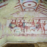 Etruscan tomb Stock Photo