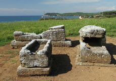 Etruscan tombs Stock Photography