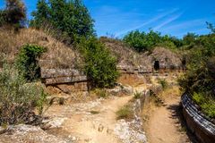 Etruscan tombs in Cerveteri, Italy Stock Image