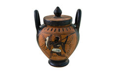 Etruscan vase lateral Royalty Free Stock Image