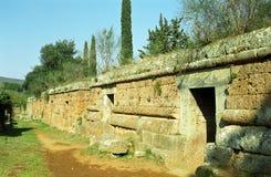 Etruscangraven, Cerveteri, Italië stock foto