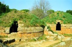Etruscy grobowowie, Cerveteri, Włochy Zdjęcia Royalty Free