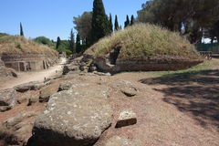 Etruski necropolis Cerveteri Obraz Royalty Free