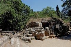 Etruski necropolis Cerveteri Zdjęcia Royalty Free