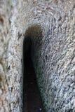 Etruski necropolis Cerveteri, wnętrze grobowiec Zdjęcie Stock