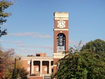 ETSU clock tower Royalty Free Stock Photos