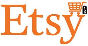 Etsy传染媒介商标  免版税库存图片