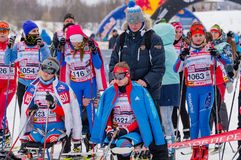 11 ettåriga växten för det Februari 2017 konst-Veretevogodset skidar loppet som Nikolov Perevoz Russialoppet 2017 skidar maraton  Royaltyfri Bild