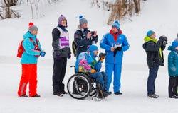 11 ettåriga växten för det Februari 2017 konst-Veretevogodset skidar loppet som Nikolov Perevoz Russialoppet 2017 skidar maraton  Royaltyfria Foton