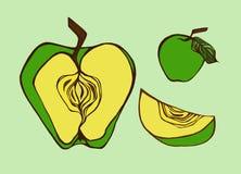 Ett äpple Arkivbilder