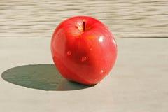 Ett äpple med tappar av bevattnar royaltyfria foton