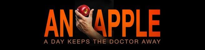 Ett äpple om dagen…, Royaltyfria Foton